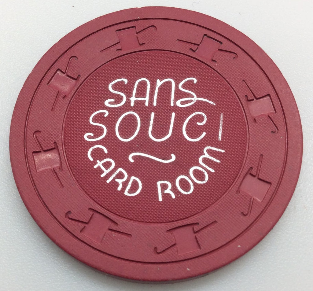 Sans Souci Card Room Las Vegas 25cent Chip 1960