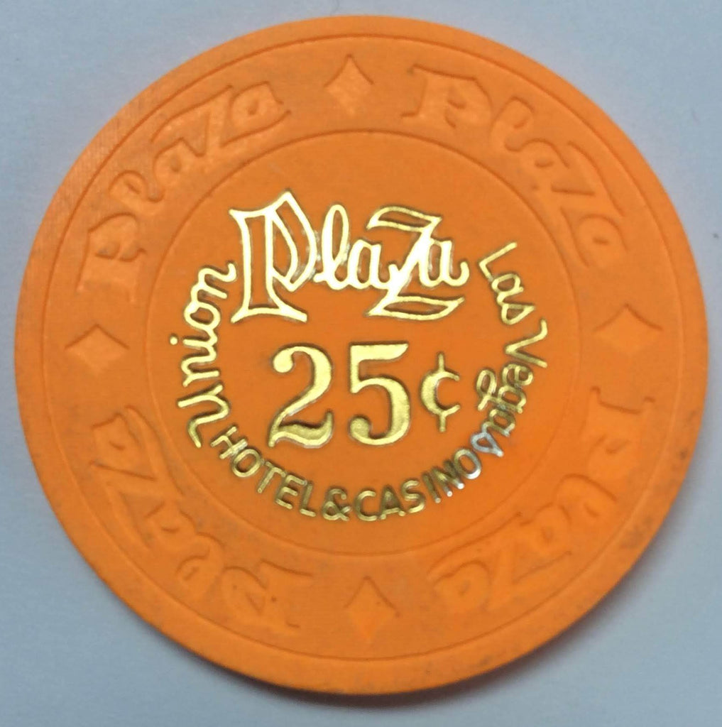 Union Plaza Casino Las Vegas NV 25 Cent Chip 1970s (Large Outlined Print)