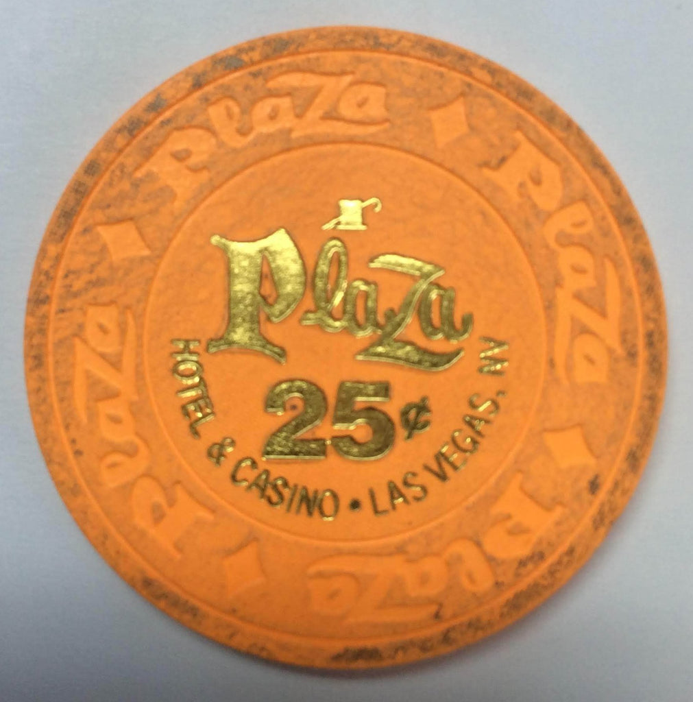 Plaza (Jackie Gaughan's) Casino Las Vegas NV 25 Cent Chip 1998