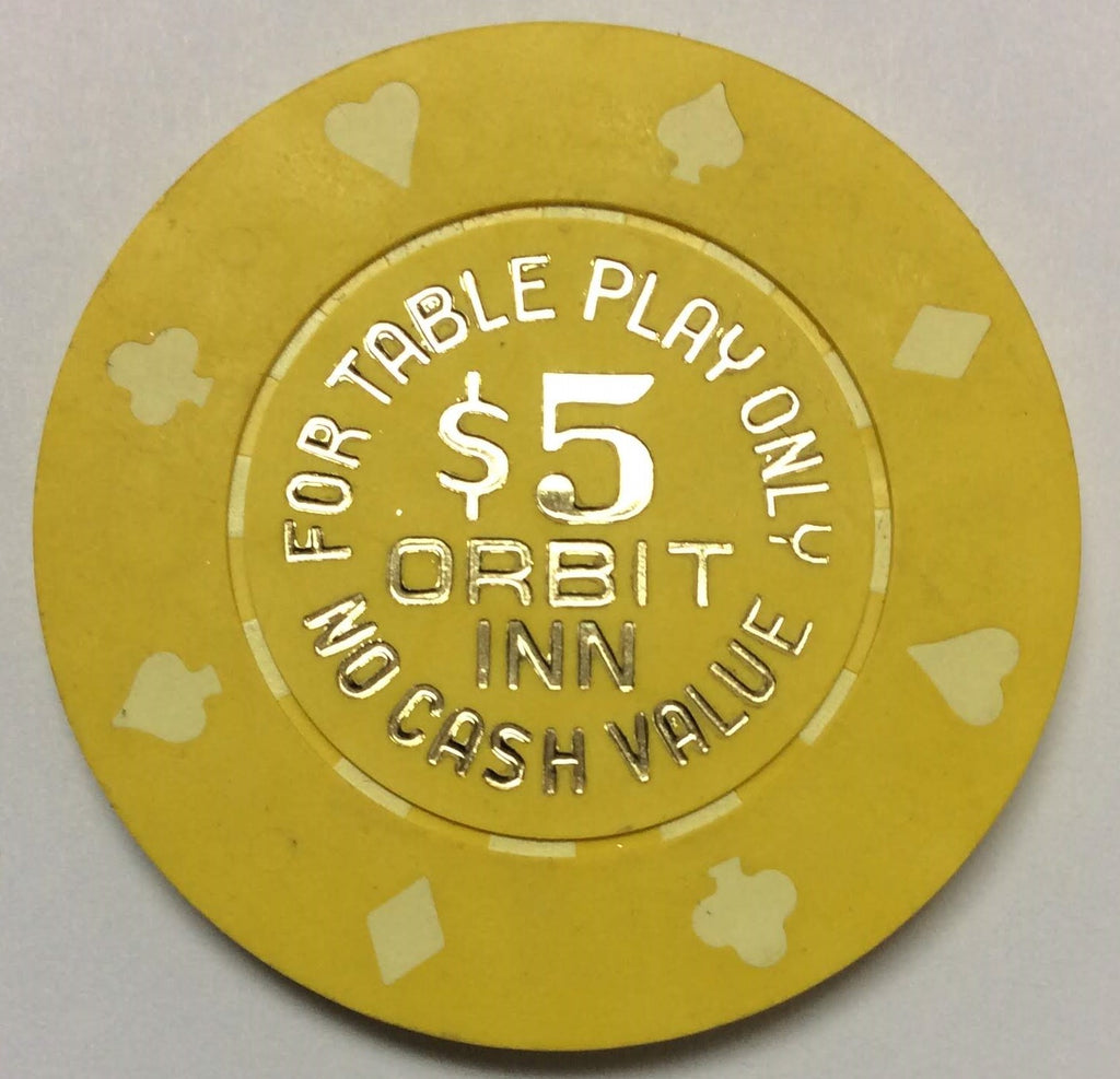 Orbit Inn Casino Las Vegas NV $5 NCV Chip 1986