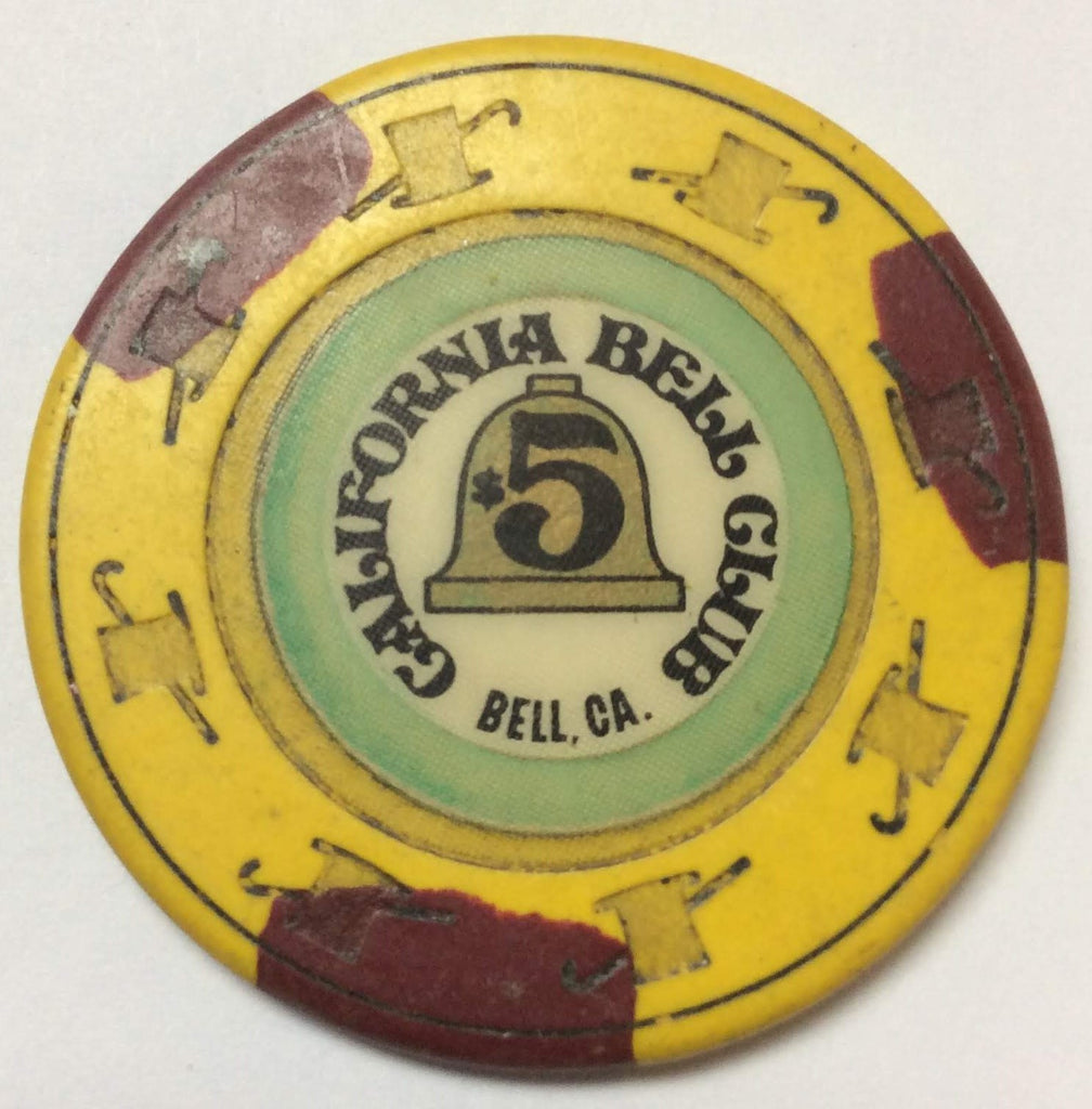 California Bell Club Casino $5 Chip