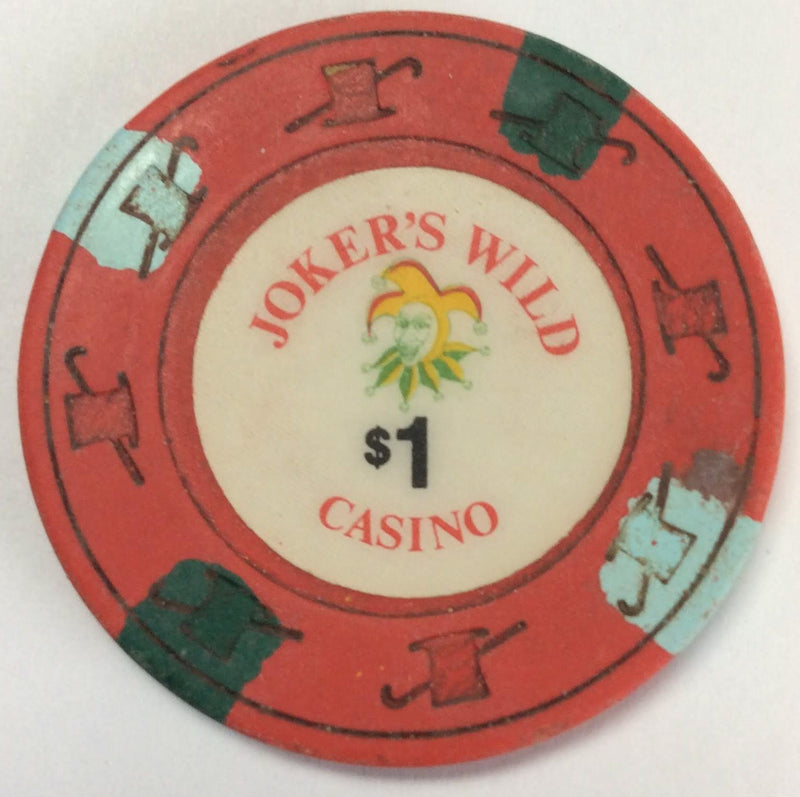 Joker's Wild Casino California $1 Chip