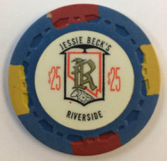 Riverside (Jessie Beck's) Casino Reno NV $25 Chip 1973