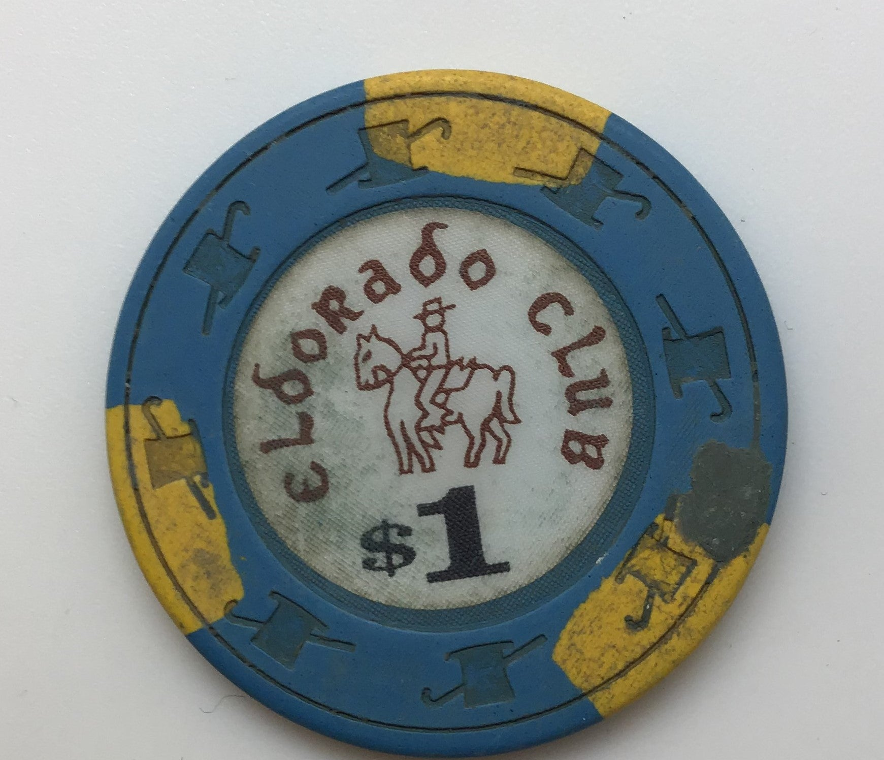 El Dorado Club Casino $1 Chip Gardena, California
