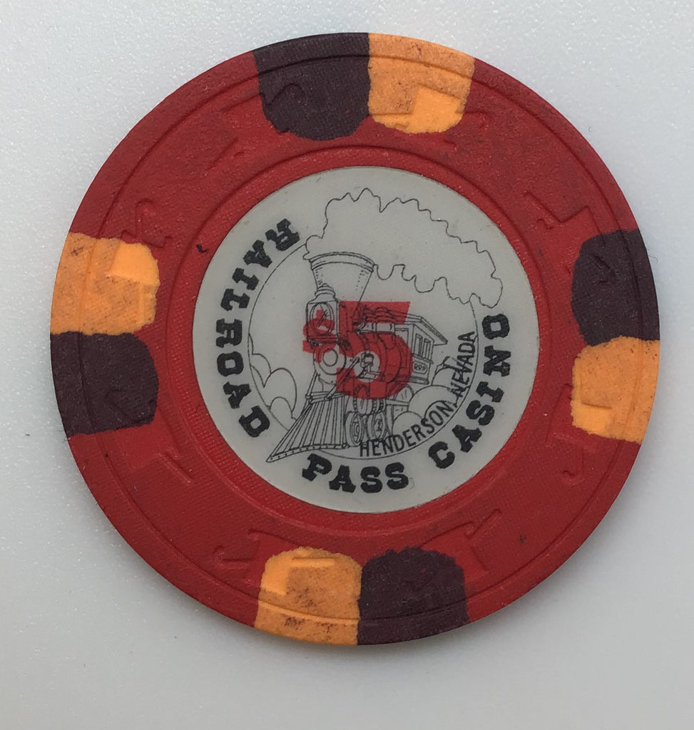 Railroad Pass Casino Henderson NV $5 Chip 1989