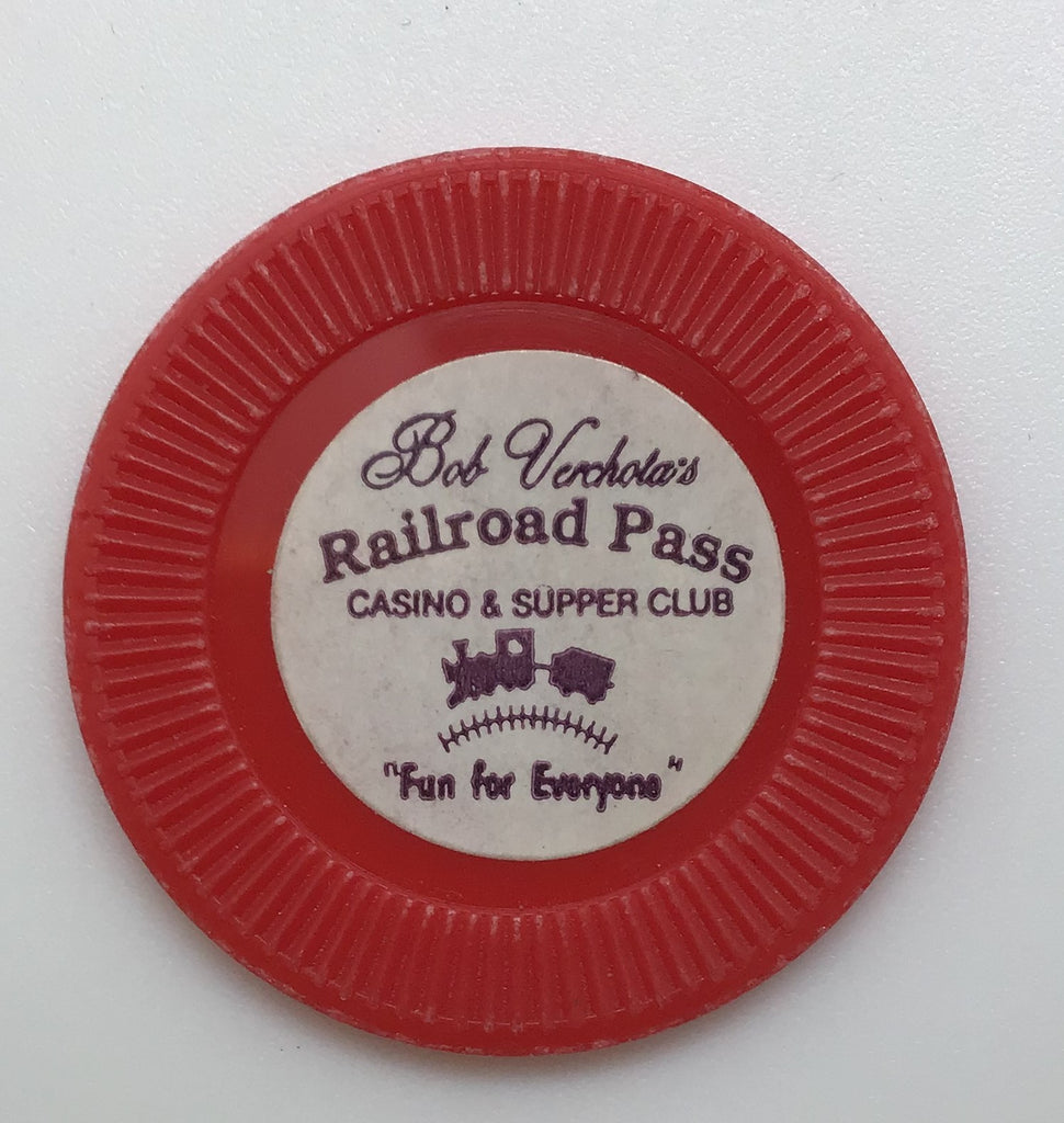 Bob Verchota's Railroad Pass Casino NCV Chip Henderson, Nevada