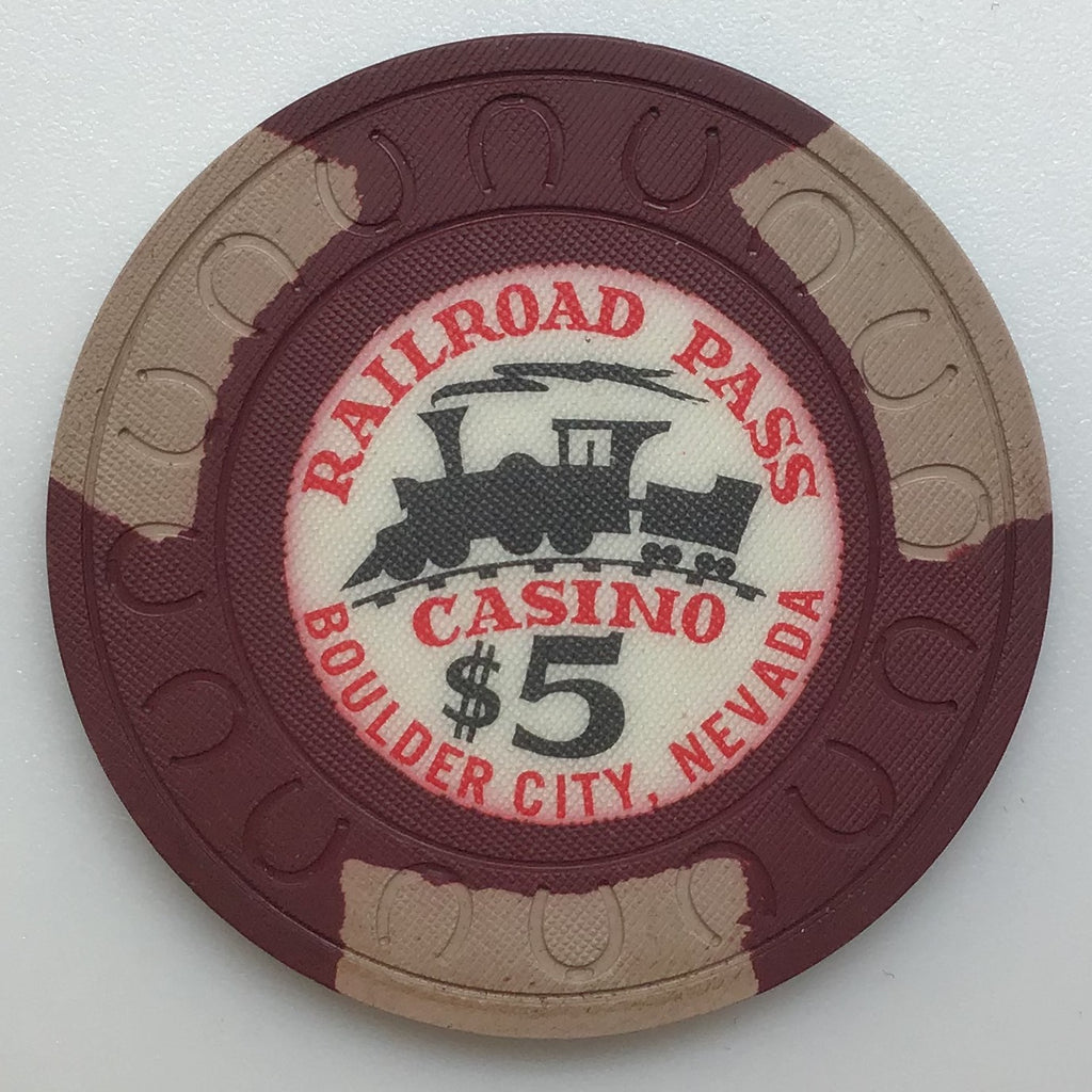 Railroad Pass Casino Henderson NV $5 Chip 1960s