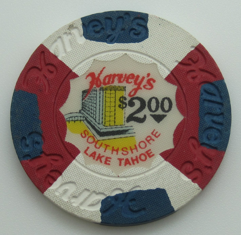 Harvey's Casino Lake Tahoe NV $2 Chip With Panes 1976
