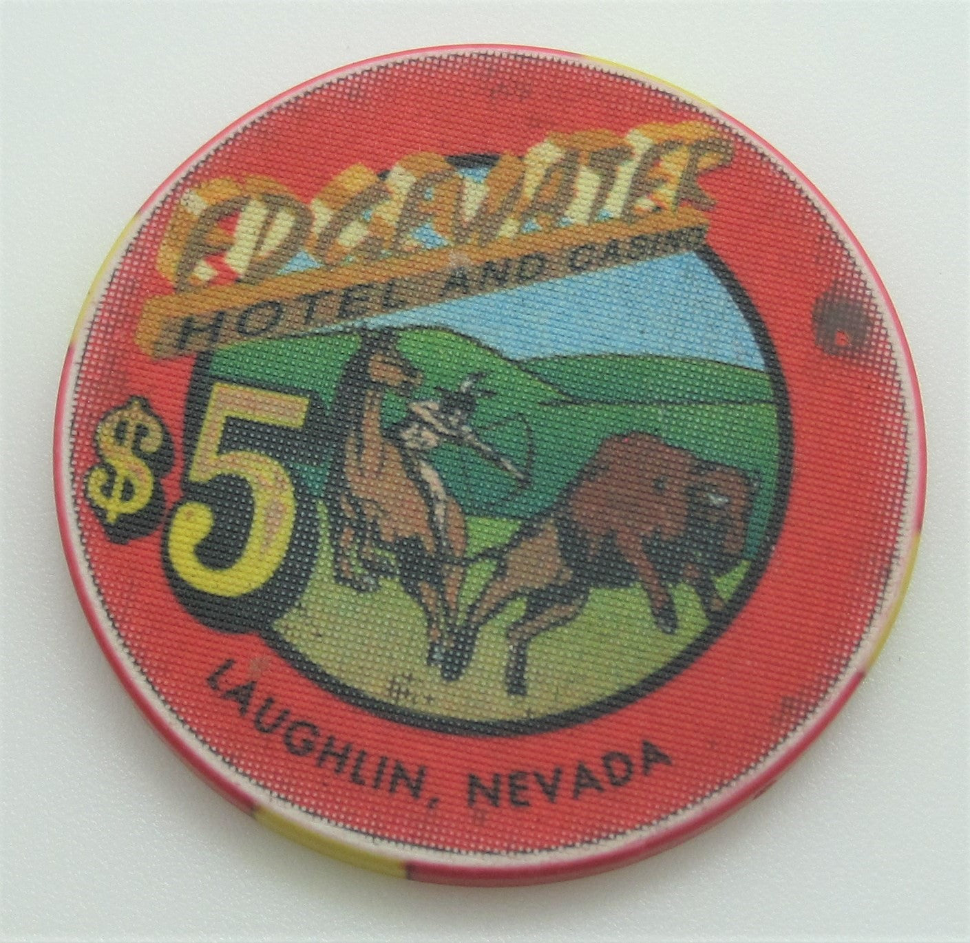 Edgewater Casino Laughlin $5 Chip 1995