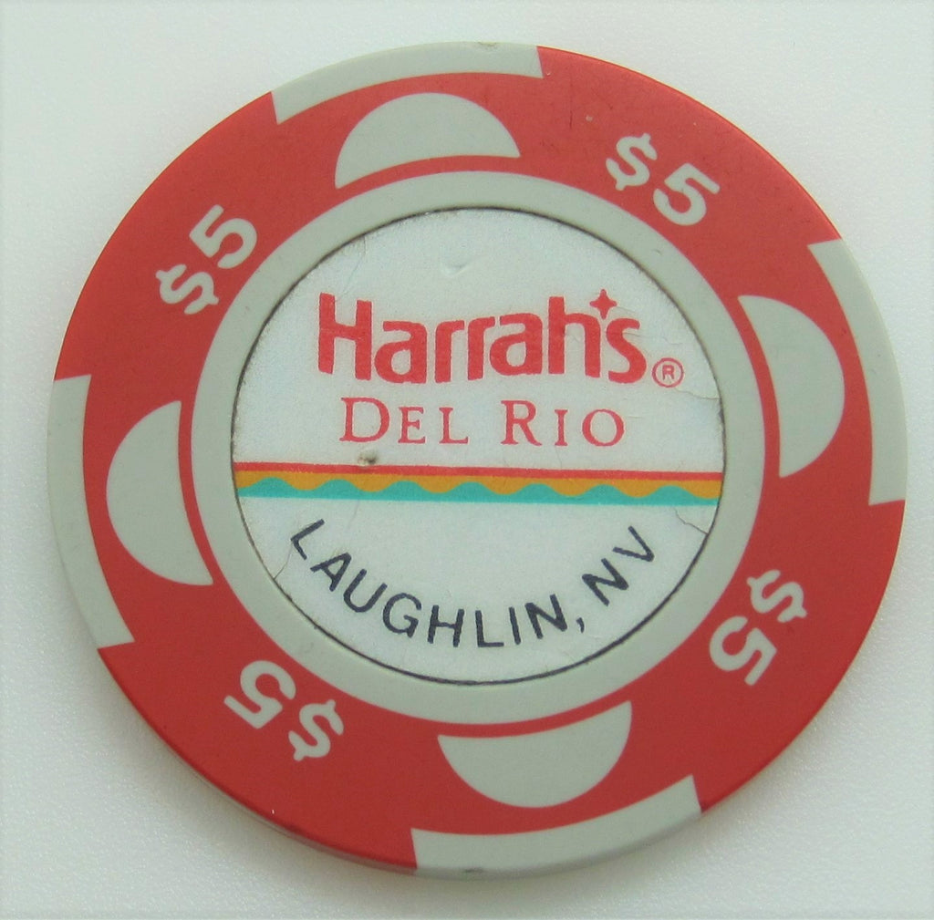 Harrah's Del Rio Casino Laughlin $5 Chip 1988