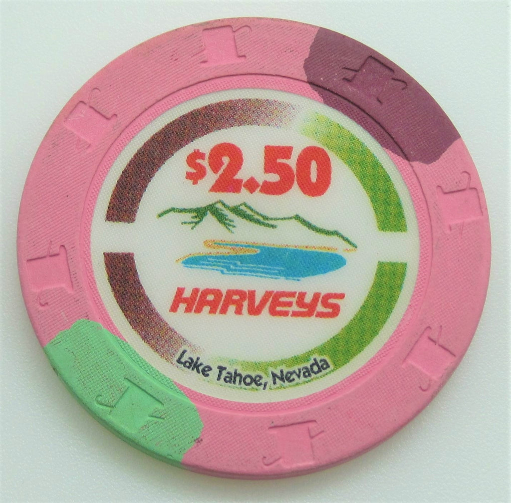 Harvey's Casino Lake Tahoe NV $2.50 Chip 1996