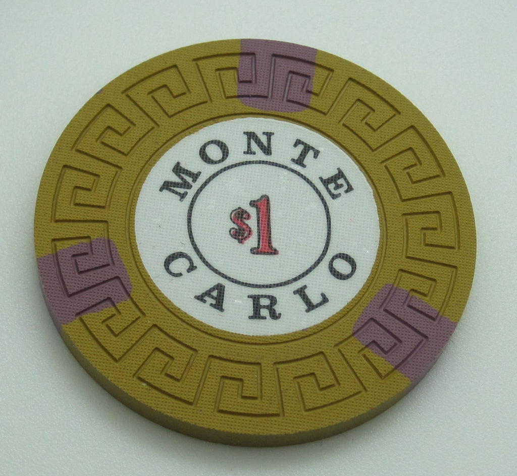 Monte Carlo Casino Reno $1 Chip 1970's  Cancelled