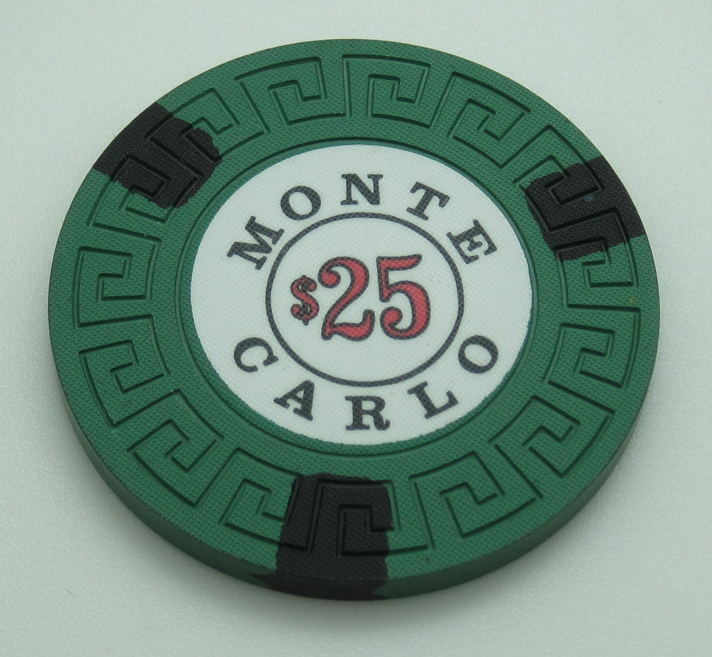 Monte Carlo Casino Reno $25 Chip 1970's Cancelled