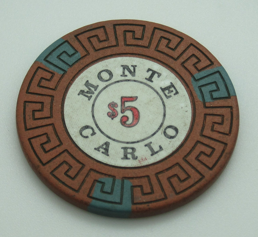 Monte Carlo Casino Reno $5 Chip 1970's Cancelled