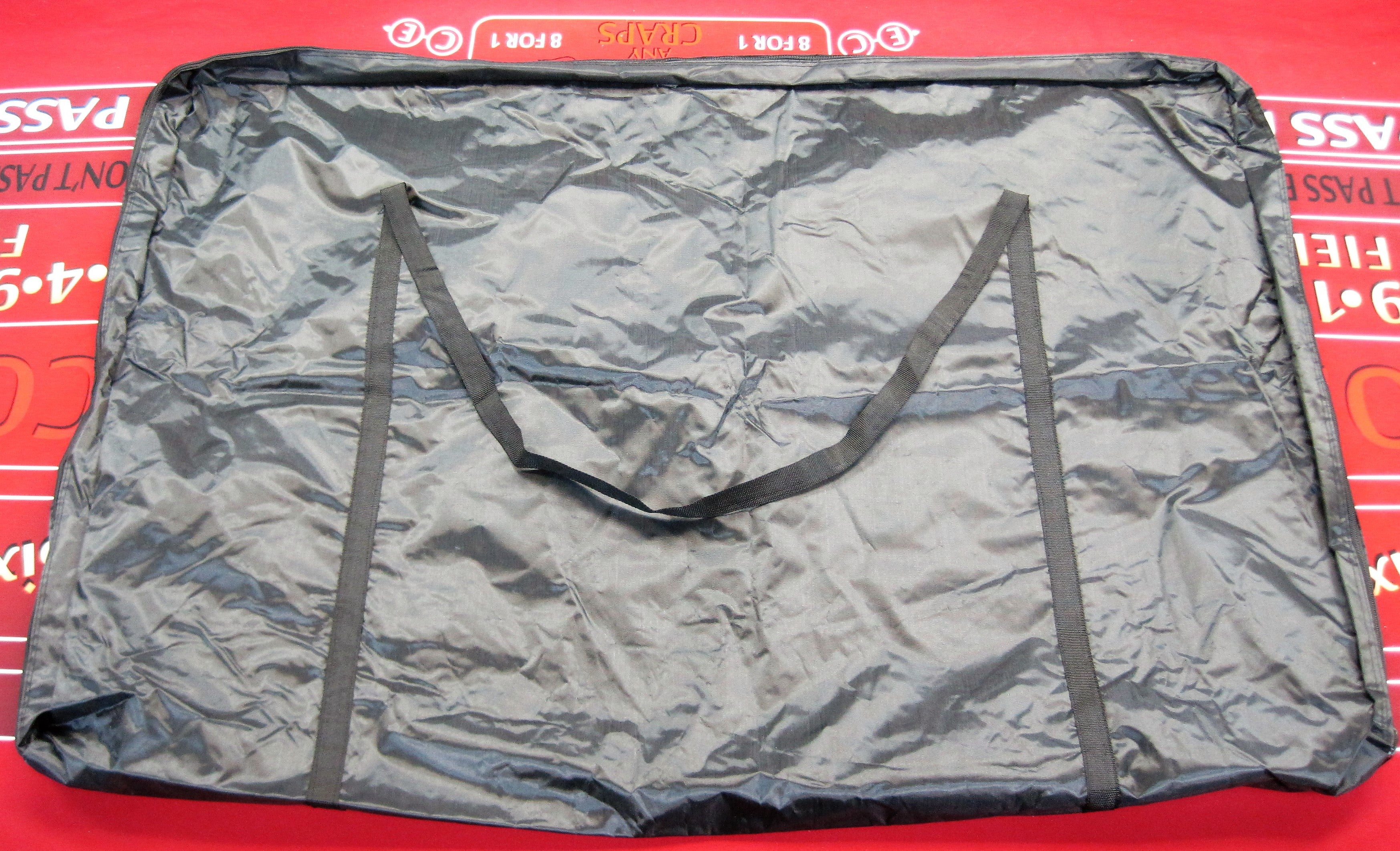 Big Black Carrying Bag - Storage Case with Zipper - Great for Multiple Uses