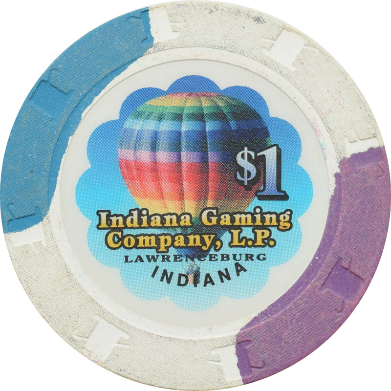 Indiana Gaming Company L.P. Lawrenceburg IN $1 Chip (