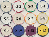 Photo quality promotional inlay custom poker chips (non laminated)