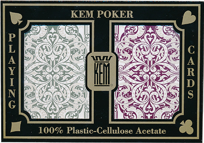 Kem Jacquard Burgundy & Green Bridge Size 2 deck setup