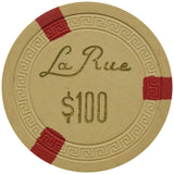 La Rue Casino Las Vegas NV $100 Chip 1950