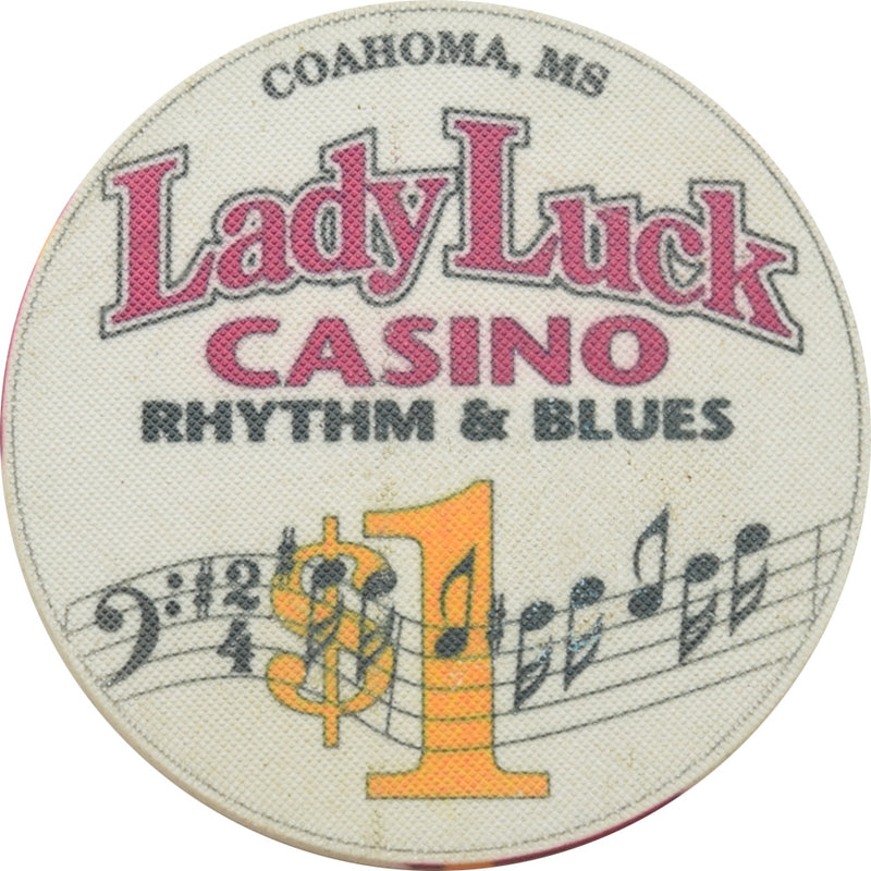 Lady Luck Casino Coahoma MS $1 Chip
