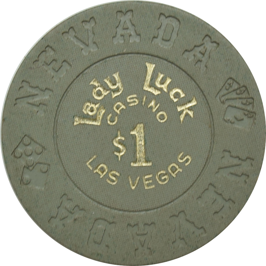 Lady Luck Casino Las Vegas NV $1 Chip 1970s