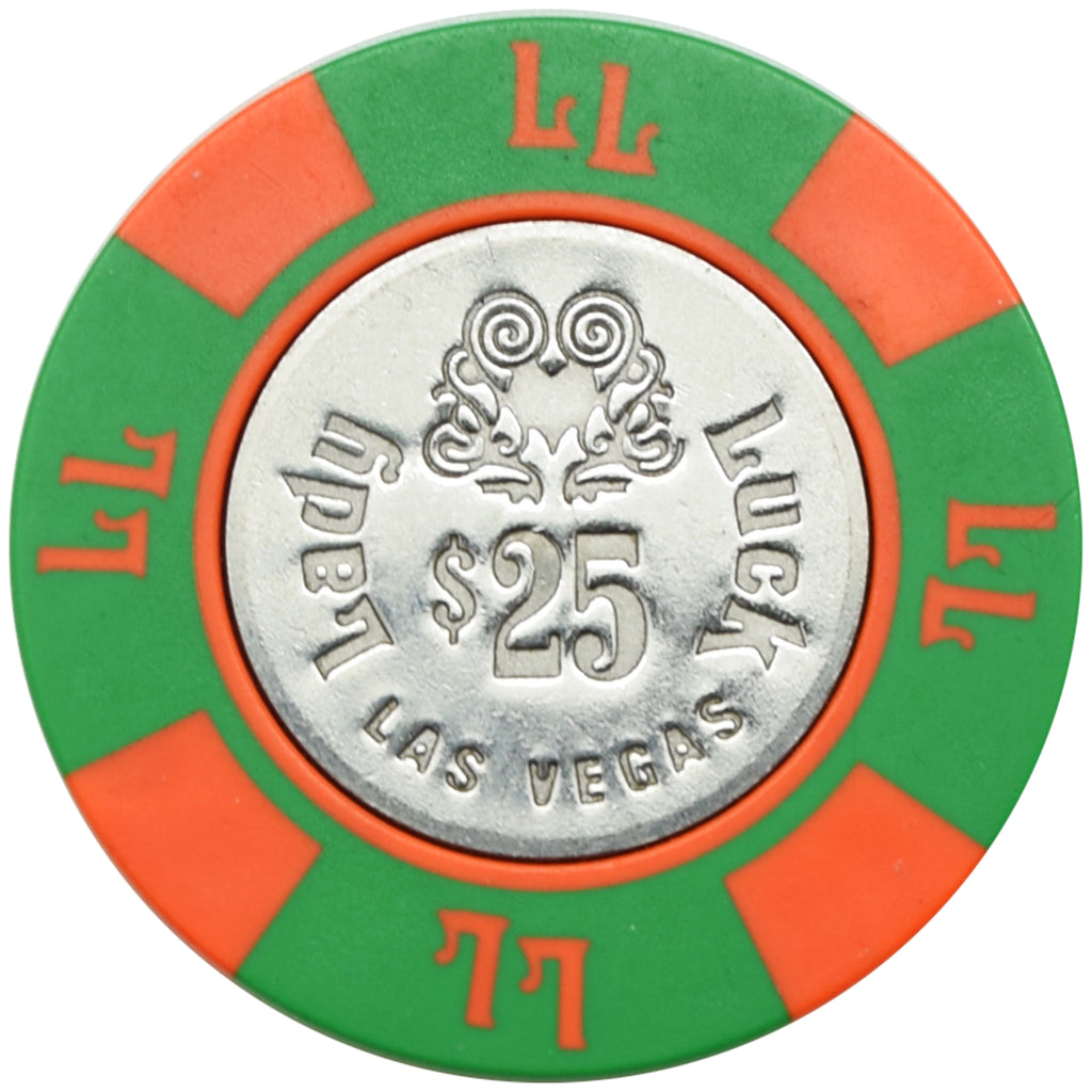 Lady Luck Casino Las Vegas NV $25 Chip 1980s