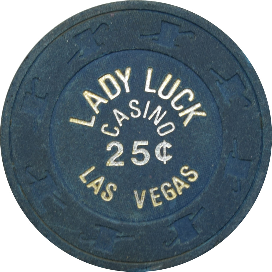 Lady Luck Casino Las Vegas NV 25 Cent Chip 1980s