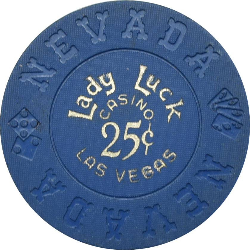 Lady Luck Casino Las Vegas NV 25 Cent Chip 1970s