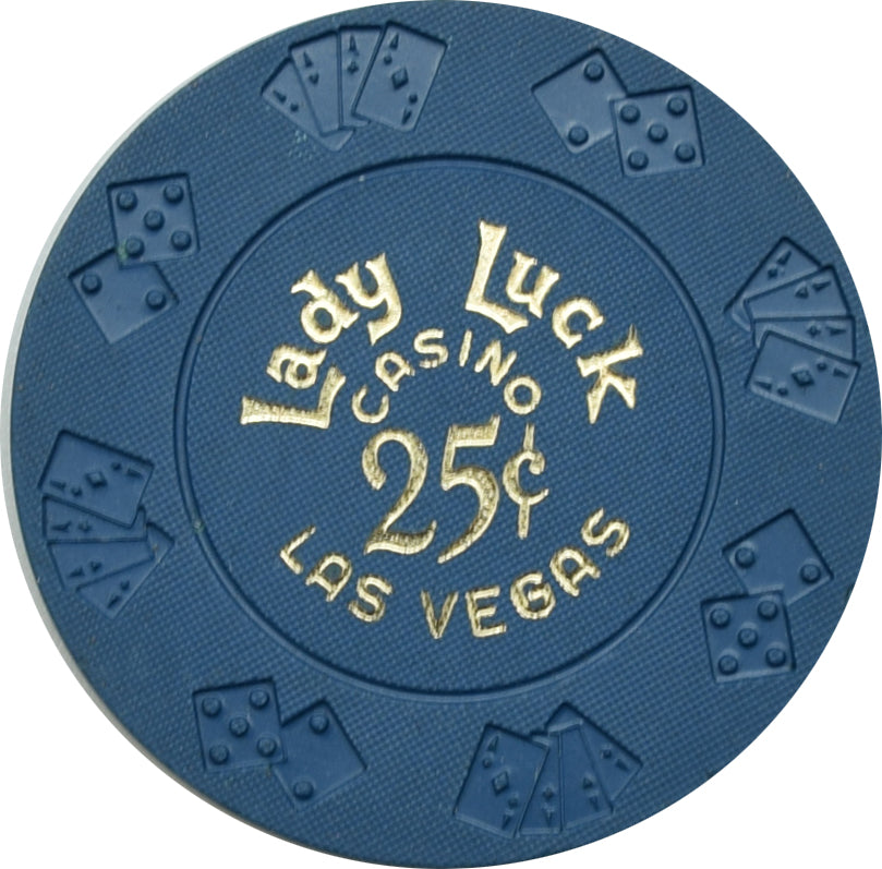 Lady Luck Casino Las Vegas NV 25 Cent Chip 1960s