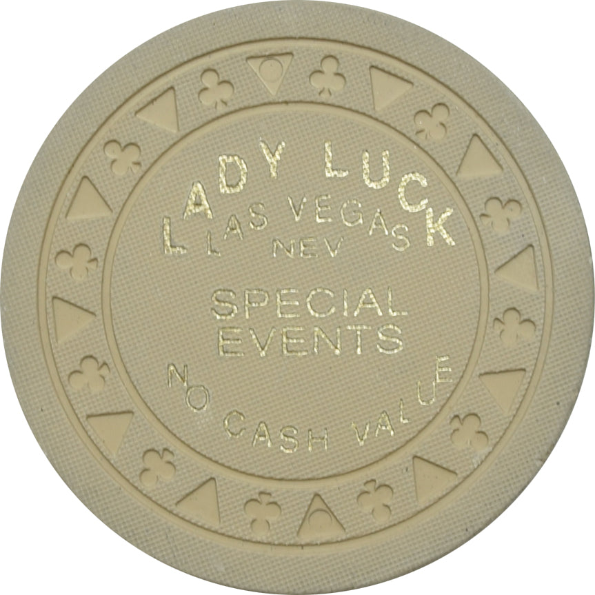 Lady Luck Casino Las Vegas NV Biege Special Events Chip 1990s