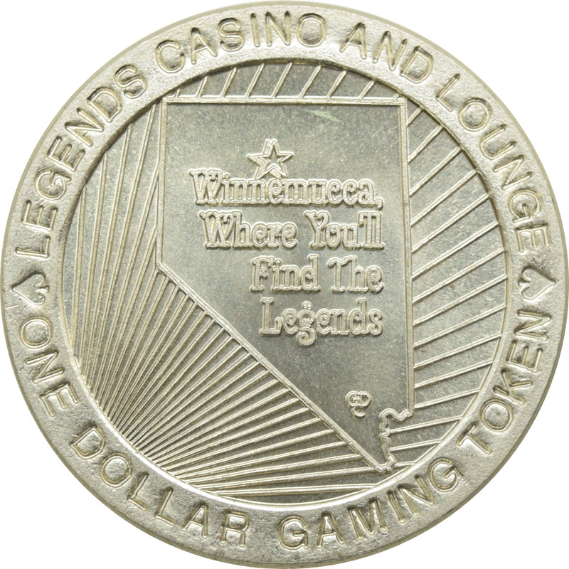 Legends Casino and Lounge Winnemucca NV $1 Token 1996