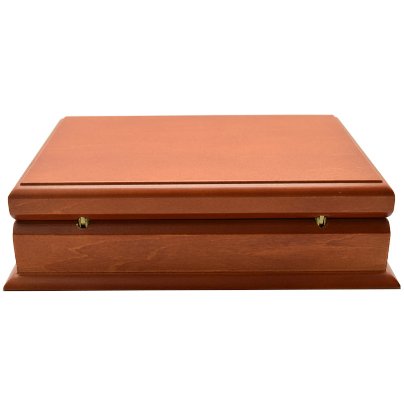Wooden 2 Deck Card Case - Maple