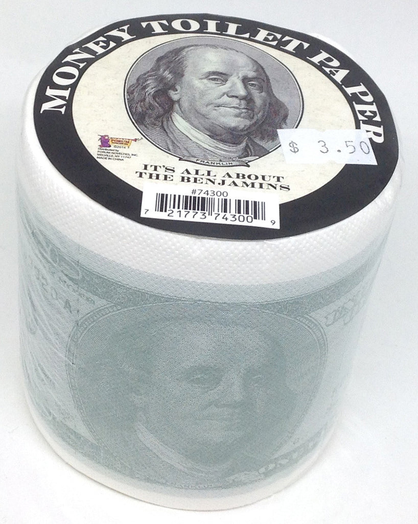Money Toilet Paper $100 Bills