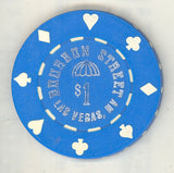 Bourbon Street Casino $1 (blue 1992) Chip - Spinettis Gaming - 1