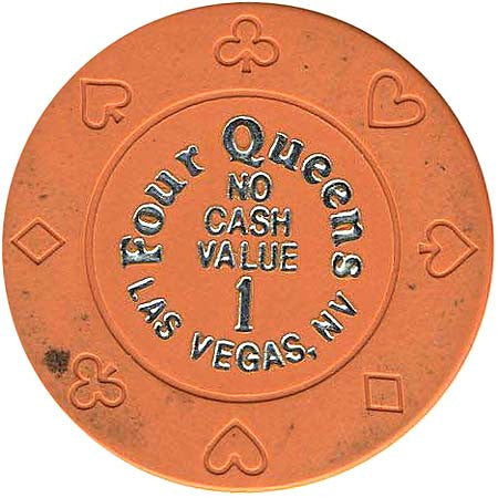 Four Queens 1 (orange) (no cash) chip