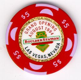Boulder Station Las Vegas $5 Chip 1994