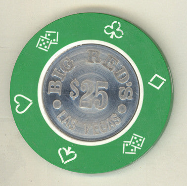 Big Red's Casino $25 (green 1981) Chip - Spinettis Gaming - 1