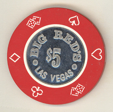 Big Red's Casino $5 (red 1981) Chip