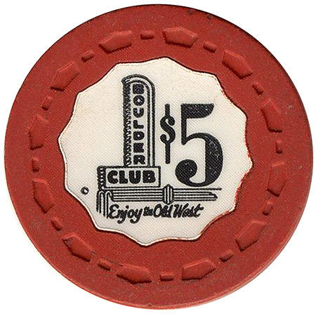 Boulder Club $5 (Red) Chip - Spinettis Gaming - 1