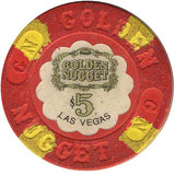 Golden Nugget $5 (red) chip - Spinettis Gaming - 1