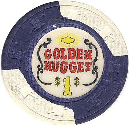 Golden Nugget $1 (dk. blue/ white) chip - Spinettis Gaming - 2