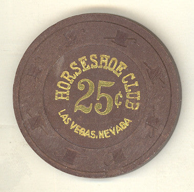 Horseshoe Club Casino Las Vegas 25cent chip 1980s - Spinettis Gaming