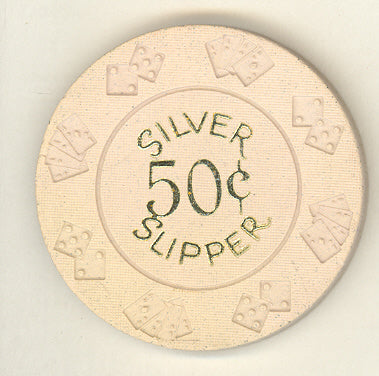 Silver Slipper Casino Las Vegas NV 50 Cent Chip 1972