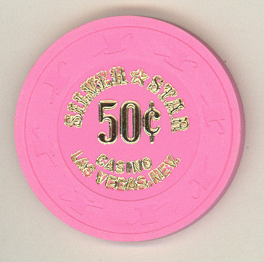 Silver Star 50cent (pink) chip