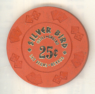 Silver Bird Hotel Casino 25 cent chip 1976 - Spinettis Gaming