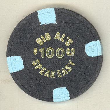 Big Al's Speakeasy Casino $100 (black 1980) Chip