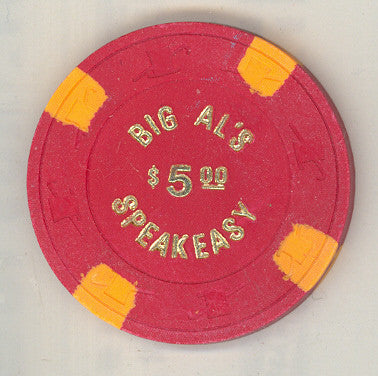 Big Al's Speakeasy Casino $5 (red 1980) Chip