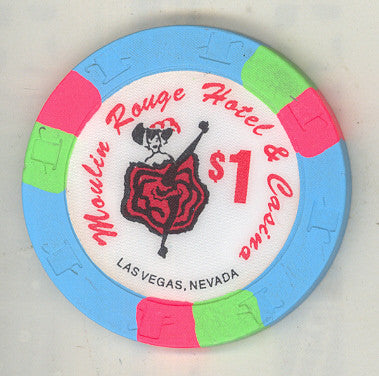 Moulin Rouge Casino Las Vegas $1 Chip 1993