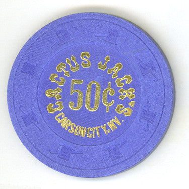 Cactus Jacks Casino 50cent (purple 1980s) Chip