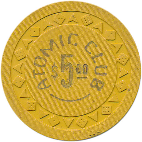 Atomic Club Winnemucca $5 Chip 1951
